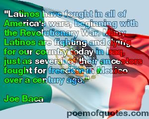 A quote about Latino heroes in the United States